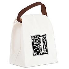 I-ana black Canvas Lunch Bag