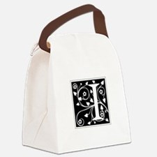 I-ana black Canvas Lunch Bag