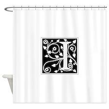 I-ana black Shower Curtain