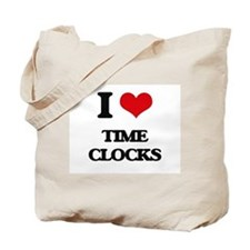 I love Time Clocks Tote Bag