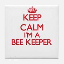 Keep calm I'm a Bee Keeper Tile Coaster