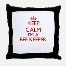 Keep calm I'm a Bee Keeper Throw Pillow