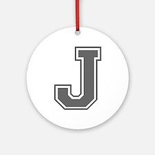 J-var gray Ornament (Round)