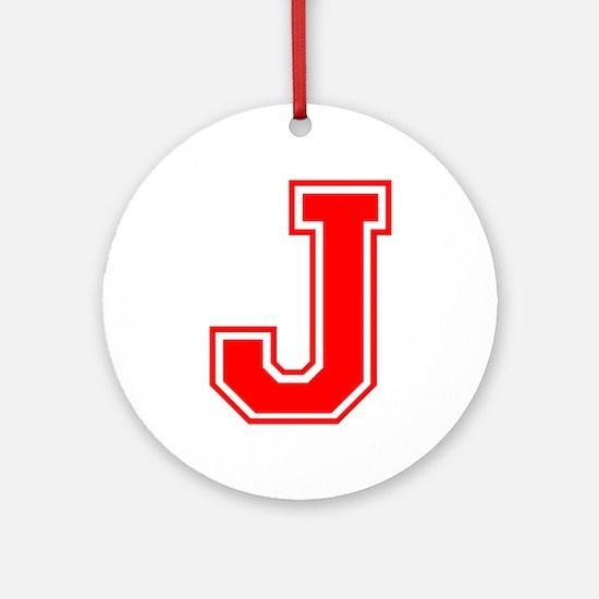J-var red Ornament (Round)