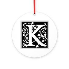 K-ana black Ornament (Round)