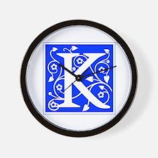 K-ana blue Wall Clock