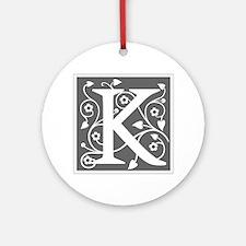 K-ana gray Ornament (Round)