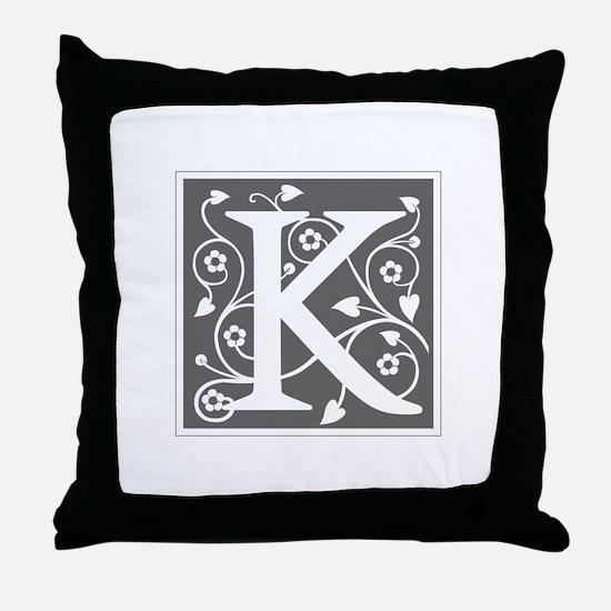 K-ana gray Throw Pillow