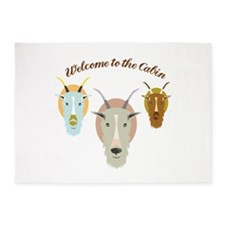 Welcome To The Cabin 5'x7'Area Rug