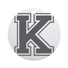 K-var gray Ornament (Round)