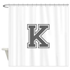 K-var gray Shower Curtain