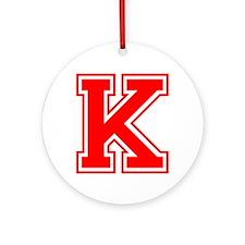 K-var red Ornament (Round)