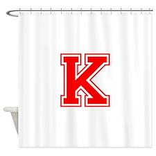 K-var red Shower Curtain