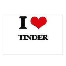 I love Tinder Postcards (Package of 8)