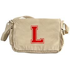 L-var red Messenger Bag