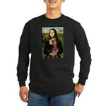 Mona's Red Doberman Long Sleeve Dark T-Shirt