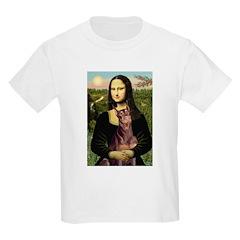 Mona's Red Doberman Kids Light T-Shirt
