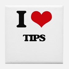 I love Tips Tile Coaster