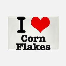 I Heart (Love) Corn Flakes Rectangle Magnet