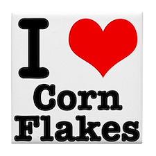 I Heart (Love) Corn Flakes Tile Coaster