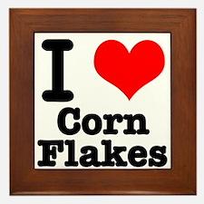 I Heart (Love) Corn Flakes Framed Tile