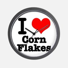 I Heart (Love) Corn Flakes Wall Clock