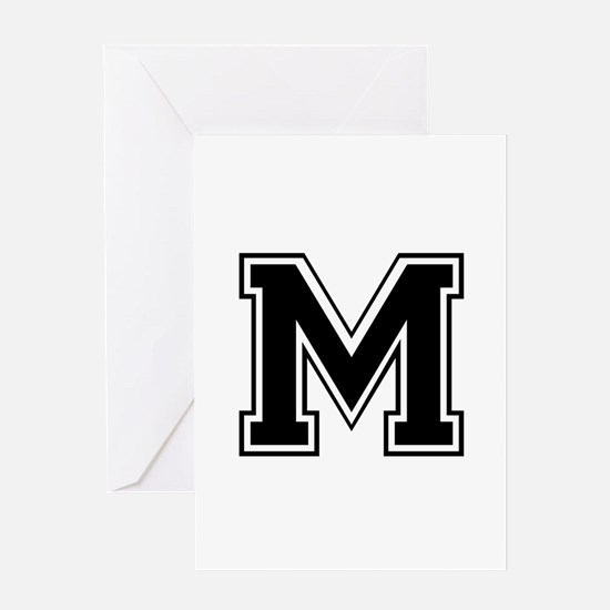 M-var black Greeting Cards
