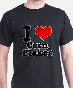 I Heart (Love) Corn Flakes T-Shirt