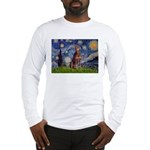 Starry / Red Doberman Long Sleeve T-Shirt