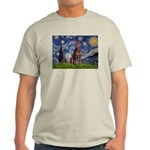 Starry / Red Doberman Light T-Shirt