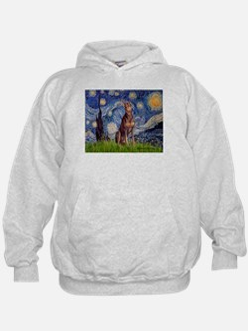 Starry / Red Doberman Hoodie