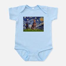 Starry / Red Doberman Infant Bodysuit