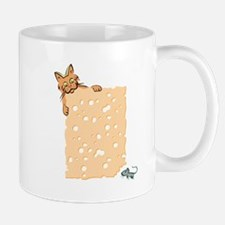 Cat And Mouse With Cheese Mugs