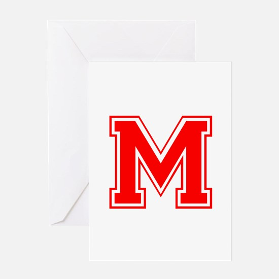 M-var red Greeting Cards