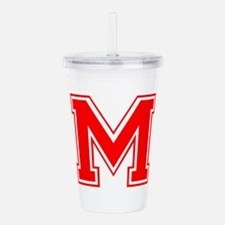 M-var red Acrylic Double-wall Tumbler