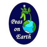 Peas On Earth (christmas tree ornament)