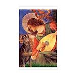 Mandolin Angel & Dobie Sticker (Rectangle)