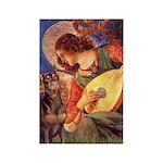 Mandolin Angel & Dobie Rectangle Magnet (10 pack)