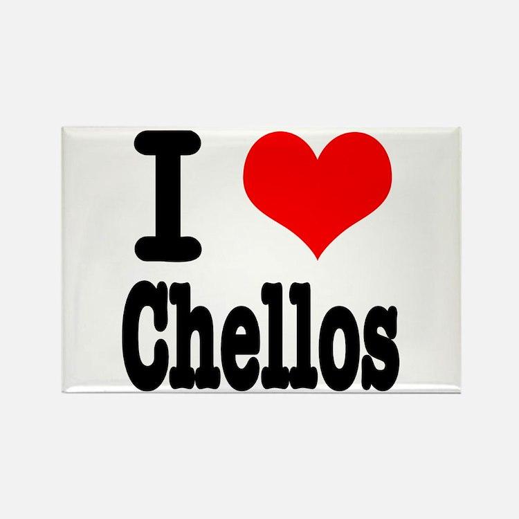 I Heart (Love) Chellos Rectangle Magnet