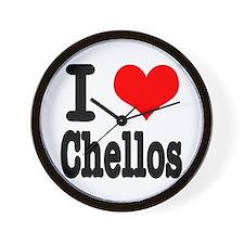 I Heart (Love) Chellos Wall Clock