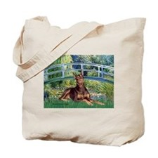 Bridge / Doberman Tote Bag