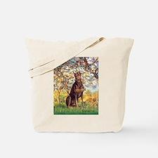 Spring / Doberman Tote Bag