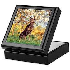 Spring / Doberman Keepsake Box
