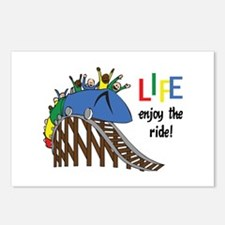 LIFE ENJOY THE RIDE Postcards (Package of 8)