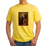 Lincoln's Red Doberman Yellow T-Shirt