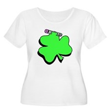 Shamrock With Pin Plus Size T-Shirt