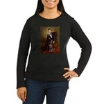 Lincoln's Red Doberman Women's Long Sleeve Dark T-