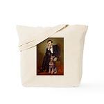 Lincoln's Red Doberman Tote Bag