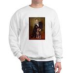 Lincoln's Red Doberman Sweatshirt