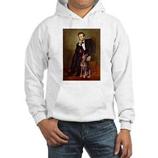 Lincoln's Red Doberman Hoodie